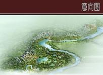 滨河景观鸟瞰图