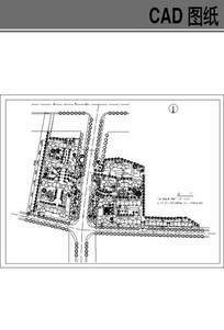 大型小区总图方案 dwg