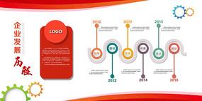 红色企业文化墙背景展板