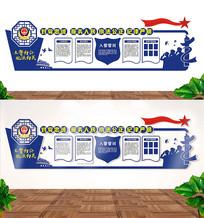 警察立体文化墙