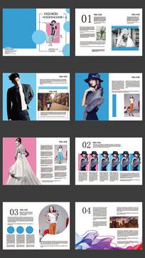 模特画册设计模板