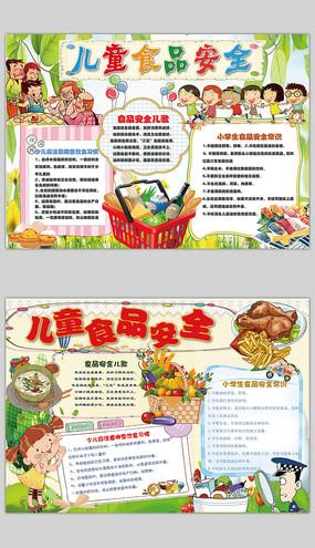 食品安全展板 环保知识宣传栏 食品安全校园饮食健康手抄报 企业单位