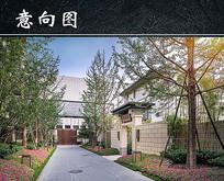 私家庭院门口景观设计