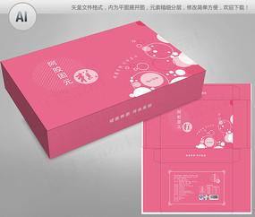 粉红色背景阿胶固元膏包装盒
