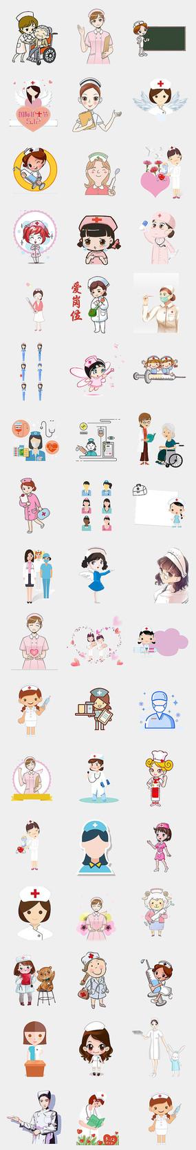 国际护士节卡通护士手绘素材