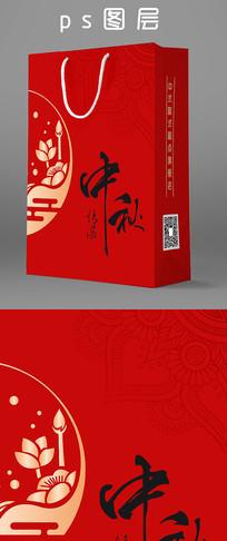 红色中秋手提袋礼盒月饼包装