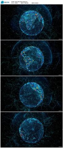 网络科技地球通信视频