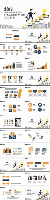 销售业绩报告PPT模版