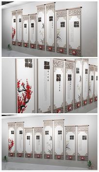 中国风党政机关廉政文化墙设计