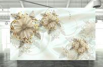珠宝浮雕立体背景墙装饰画