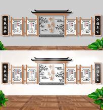 传统中医养生文化墙 CDR