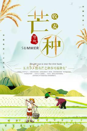 中国传统节气芒种海报