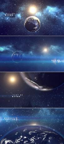 大气太空地球字幕标题片头模板