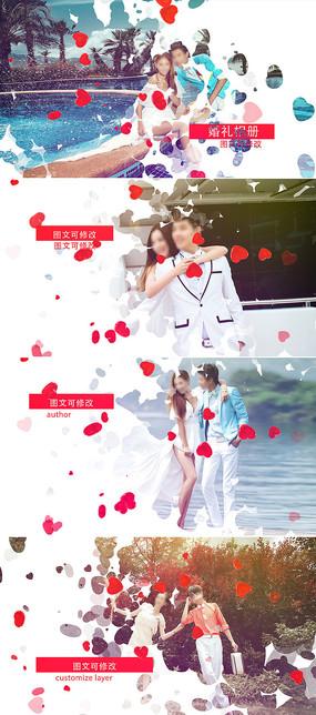 浪漫粒子爱心婚礼相册模板