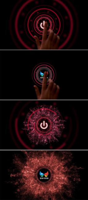 手指点击按钮启动仪式片头模板