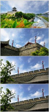 大气西安城墙高清实拍