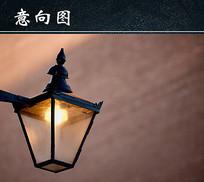 仿民国时期的路灯图 JPG