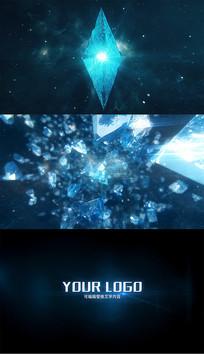 酷炫钻石爆炸破碎片头AE模板