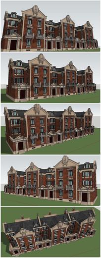 英式风格别墅建筑SU模型