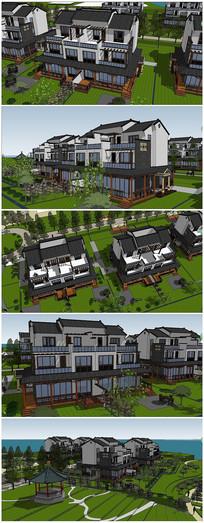 中式风格独栋别墅SU模型