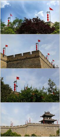 壮观西安城墙高清实拍