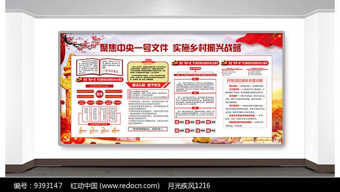 党中央乡村振兴战略宣传栏