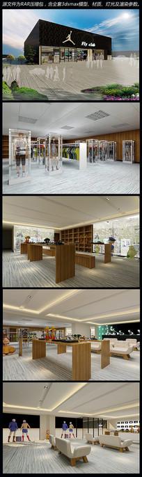 飞翔总署室内场景模型