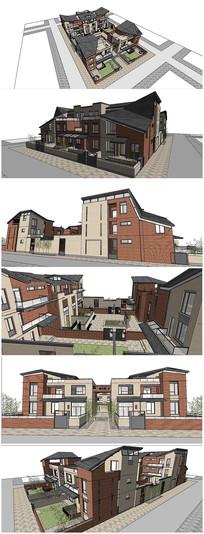 精品法式风格别墅建筑SU模型
