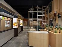 美食餐厅模型