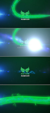pr粒子光线旋转动画标志模板