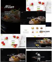 甜品美食网页 PSD
