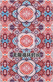 中国风农村民俗红花图案视频