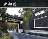 住宅区门口景观设计