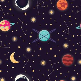 时尚大气宇宙印花图案