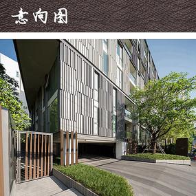 现代公寓建筑立面