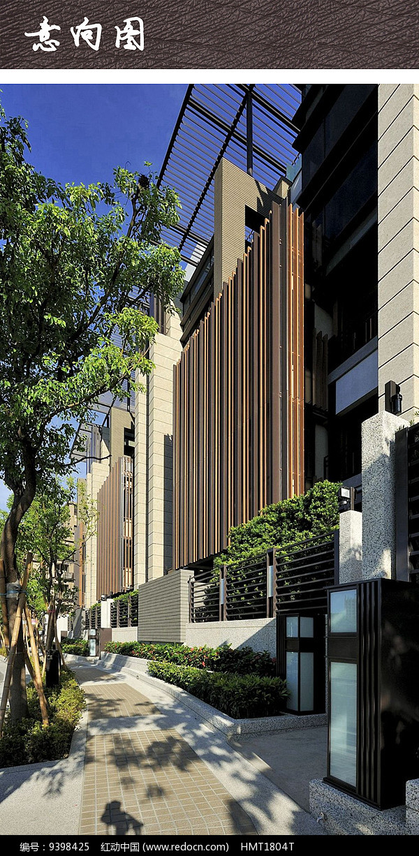 原创设计稿 方案意向 围墙|栏杆|大门 现代住宅围墙  请您分享: 素材图片
