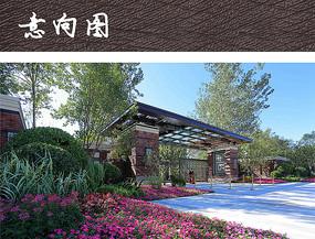 新中式小区大门