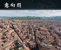 意大利建筑屋顶图