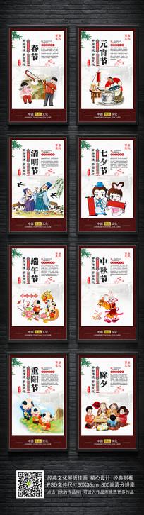 整套中国传统节日宣传展板挂图