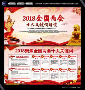 2018全国两会党建文化展板