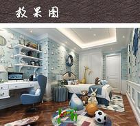 儿童卧室装修效果图 JPG