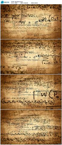 复古数学公式背景视频