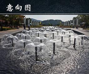 广场喷泉图