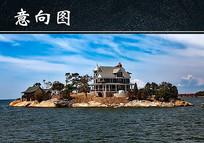 海岛上的房子