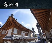 韩国传统房屋图