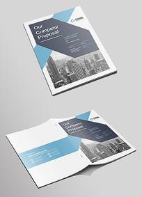 简洁企业宣传招商画册封面设计
