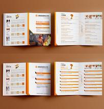 教育培训学校对折页设计