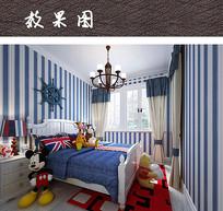 可爱儿童卧室效果图