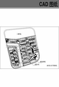 南京某小区的平面规划图 dwg