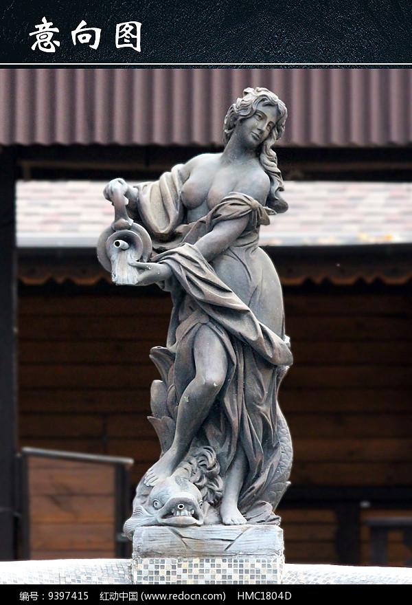 女人像雕塑图图片
